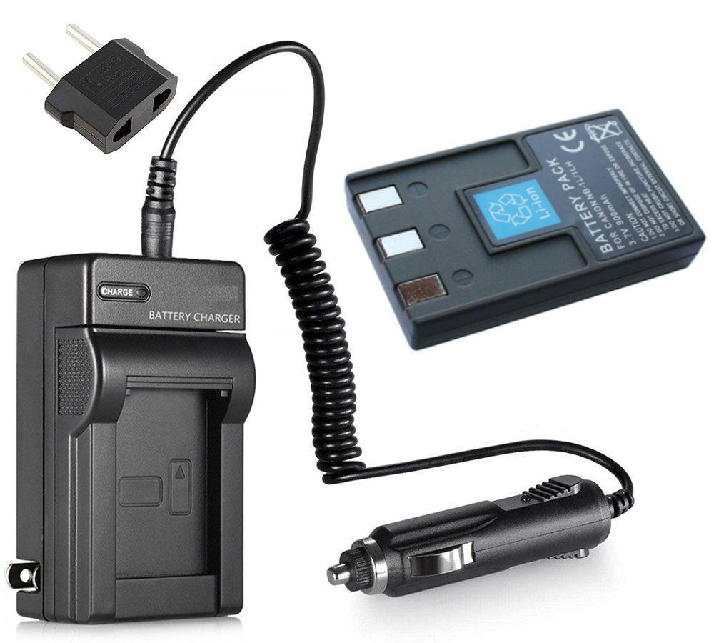 Kit Bateria NB-1LH NB-1L + Carregador para Canon PowerShot S110, S200, S230, S300, S330, S400, S410, S500