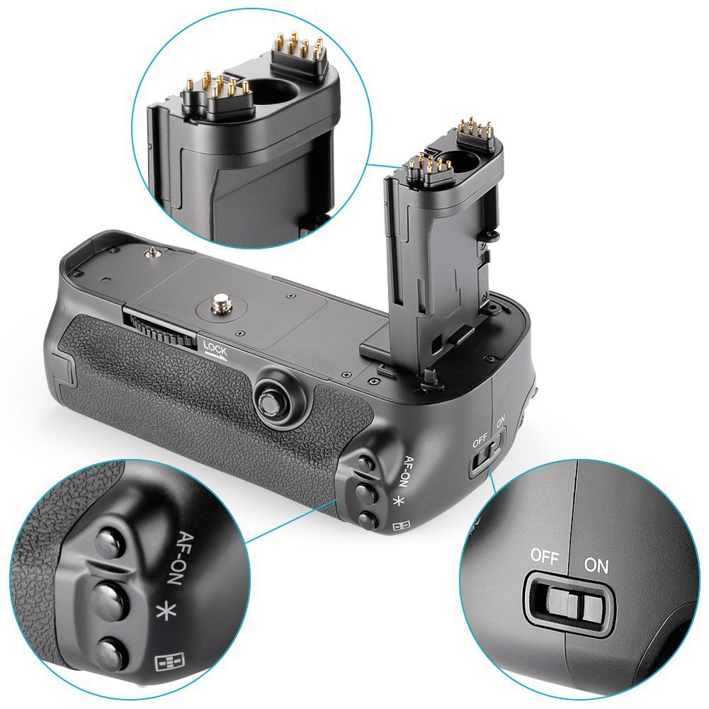 Kit Battery Grip BG-E11 para Canon EOS 5D Mark III + 2 Baterias LP-E6 + 1 Carregador