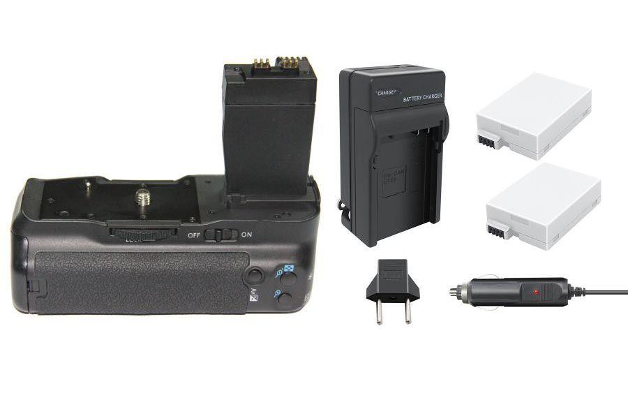 Kit BATTERY GRIP BG-E8 PARA CANON EOS T2i, T3i, T4i e T5i 550D/600D/650D/700D