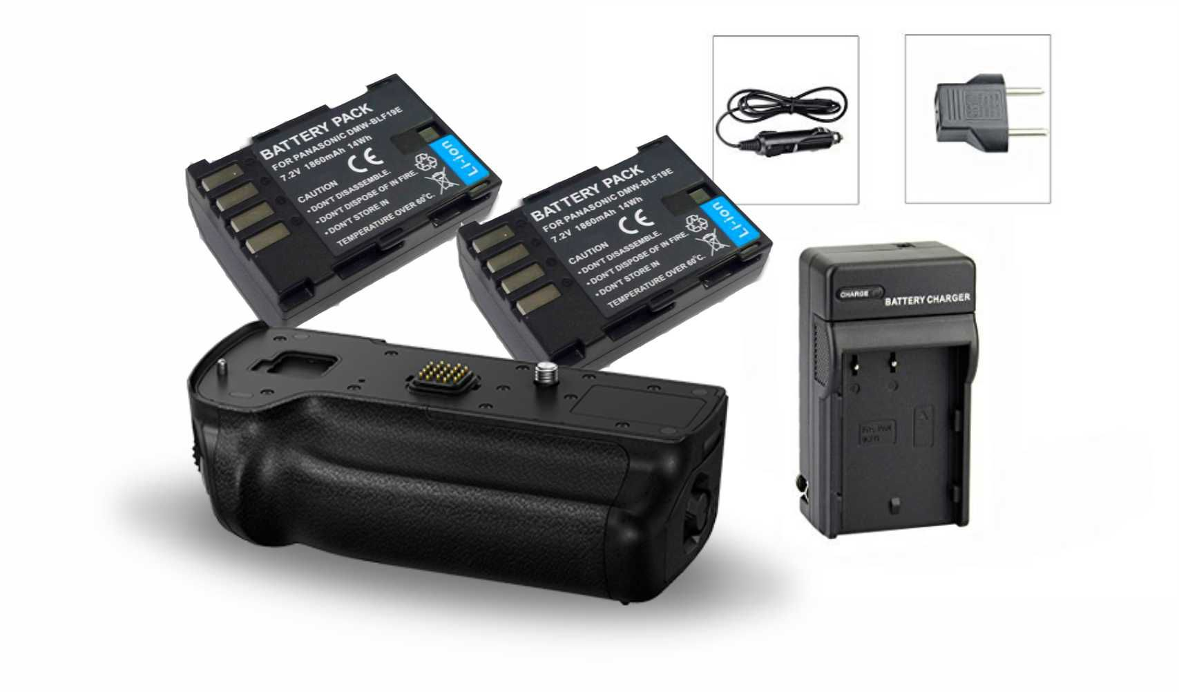 Kit Battery Grip DMW-BGGH5 para Panasonic DMC-GH5 + 2 baterias + 1 Carregador