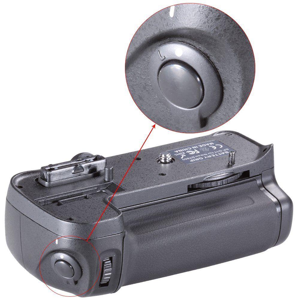 Kit Battery Grip MB-D11 + 2 Baterias EN-EL15 + Carregador para Nikon D7000