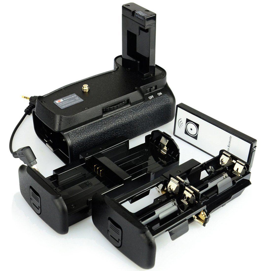 Kit Battery Grip MB-D3100 + 1 bateria EN-EL14 para Nikon D3100 D3200 D3300 D5300