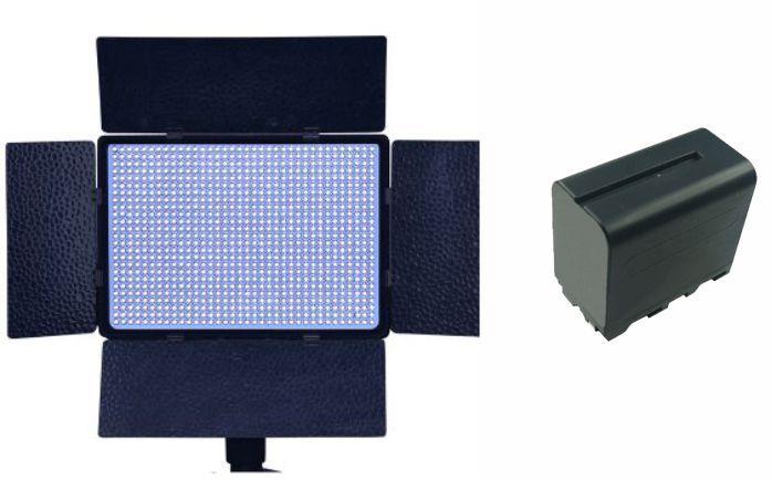 Kit Iluminador de LED Profissional LED-900AS + bateria NP-F950