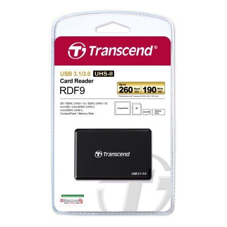 Leitor de cartão de memória Transcend USB 3.1 / 3.0 TS-RDF9K