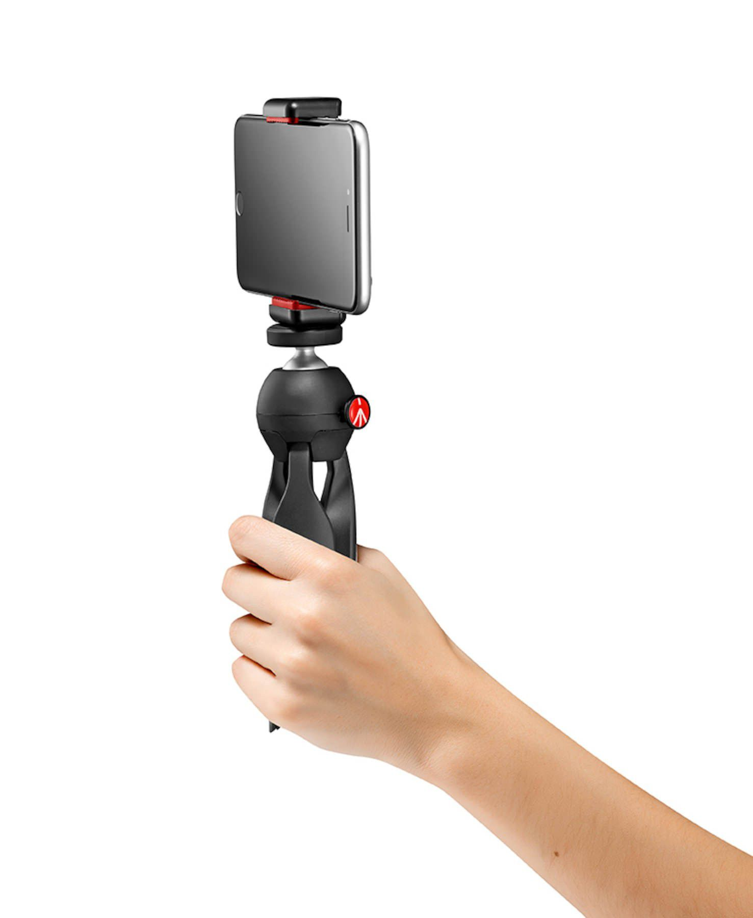 MINI TRIPÉ MANFROTTO MKPIXICLAMP-BK PIXI SMART PARA IPHONE CÂMERA COMPACT E DSLR