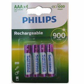Pilha recarregável Philips AAA 900 mAh 4 unidades