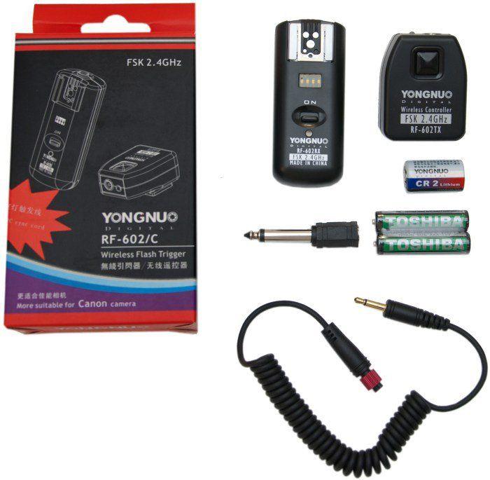 Rádio Flash Yongnuo  RF602  KIT  para CANON 1D 5D 7D 60D 50D 40D 30D 20D 10D 550D 500D
