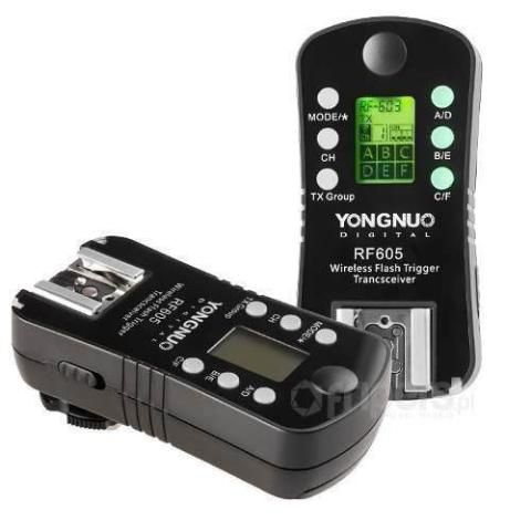 RÁDIO FLASH YONGNUO RF605 P CANON