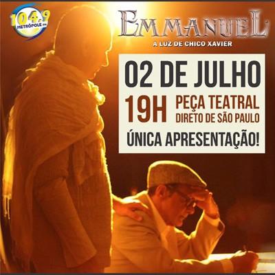 Emmanuel - A Luz de Chico Xavier - 02/07/17 - Osvaldo Cruz - SP