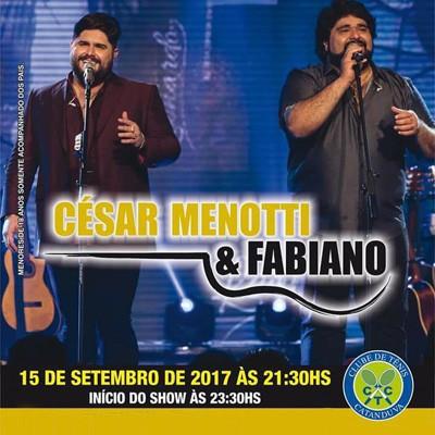 César Menotti & Fabiano - 15/09/17 - Catanduva - SP