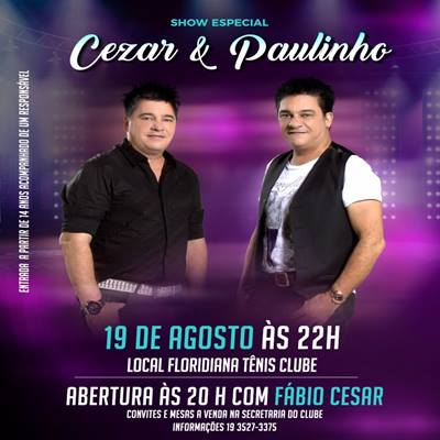 Cezar & Paulinho - 19/08/17 - Rio Claro - SP