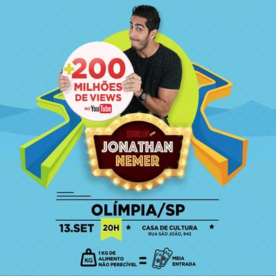 Stand Up Comedy - Jonathan Nemer - 13/09/17 - Olímpia - SP