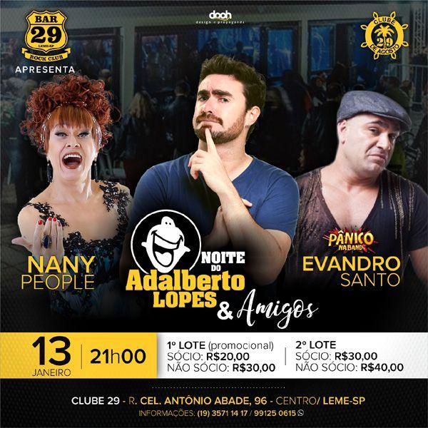 Noite do Adalberto Lopes & Amigos - 13/01/18 - Leme - SP
