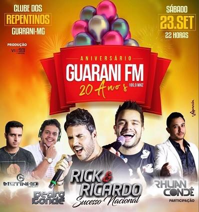 Rick & Ricardo - 23/09/17 - Guarani - MG