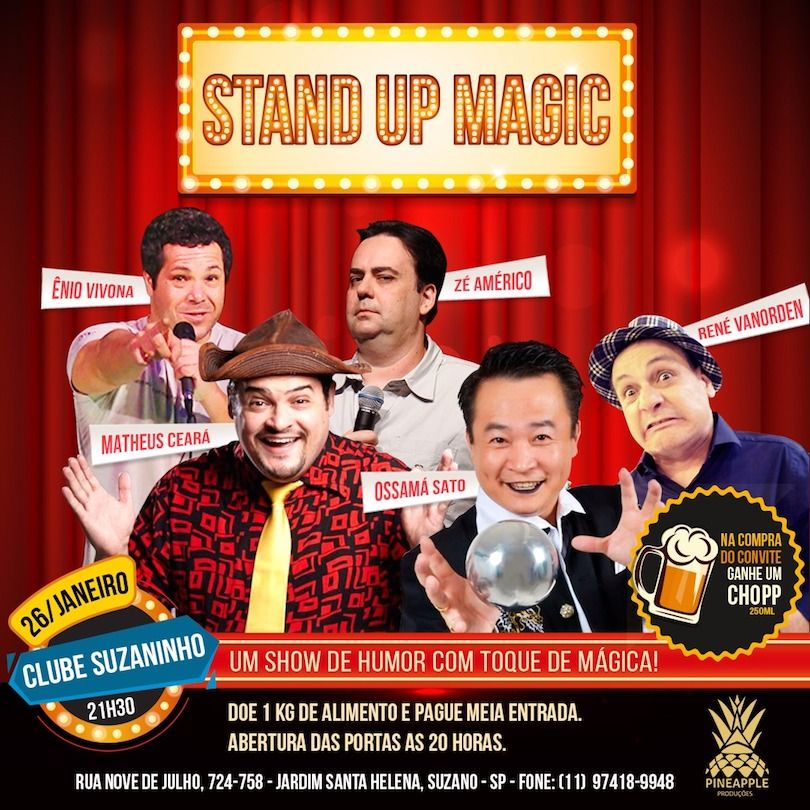 Stand Up Magic - 26/01/18 - Suzano - SP