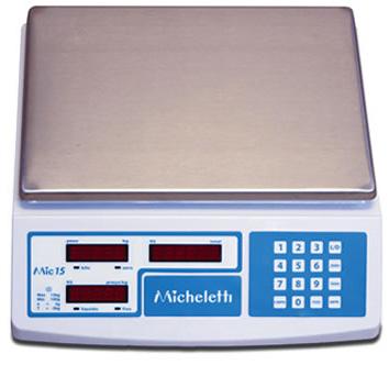 BALANÇA DIGITAL - PREÇO, PESO E TOTAL -15kg - MIC 15
