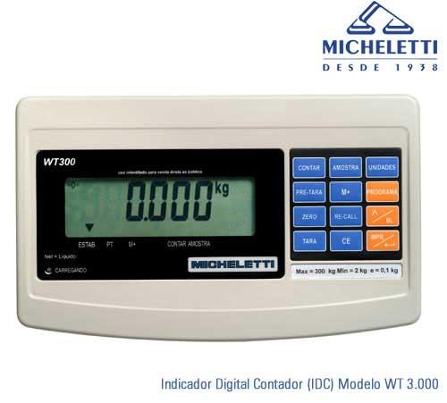 INDICADOR DE PESO MODULO DIGITAL  - MICHELETTI - IDC-WT3000  - CONTADOR