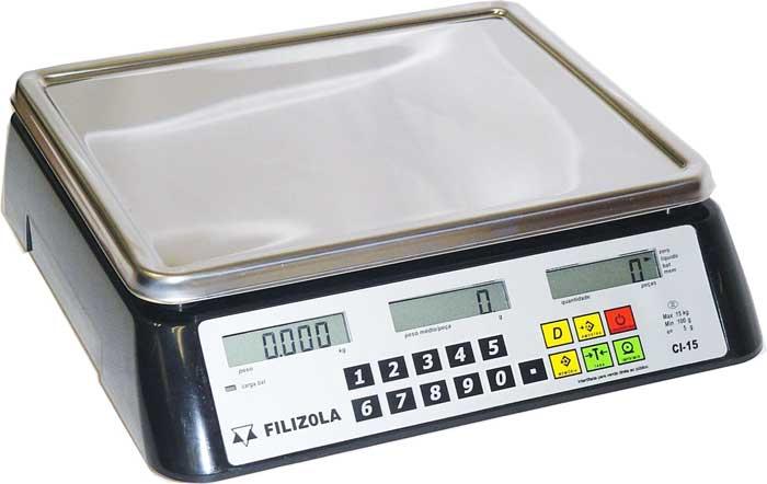 BALANÇA FILIZOLA CONTADORA CI -LCD - 6 / 30kg - (Fora de Linha, Fabricante Faliu)