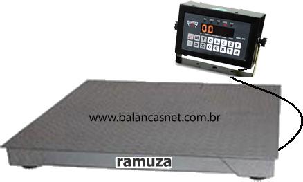 BALANÇA ELETRÔNICA 1000kg PLATAF.1,20x1,20 - RAMUZA