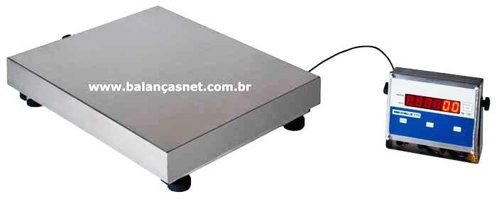 BALANÇA ELETRÔNICA TOTAL INOX -  300kg -  -40x50-MICHELETTI