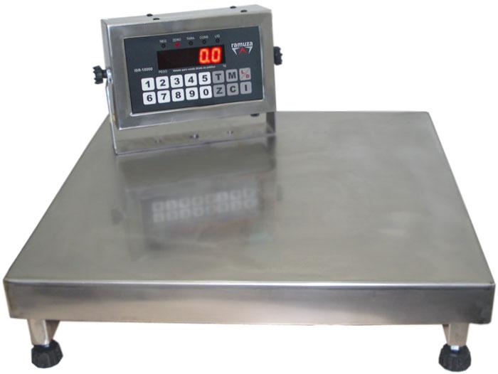 BALANÇA ELETRÔNICA TOTAL INOX 300kg - 50x50cm  - RAMUZA