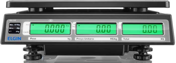 BALANÇA DIGITAL PREÇO POR kg -  ELGIN SA-110 -  C/ Bateria 140h