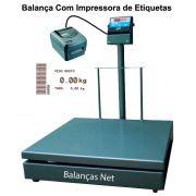 BALANÇA ELET.1000kg -1,00x1,00m  - Com Impressora