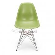 Cadeira Charles Eames Poliproleno Verde Base Cromado - DKR CROMADA VERDE