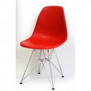 Cadeira Charles Eames Polipropileno Vermelho Base Cromado - DKR CROMADA VERMELHA