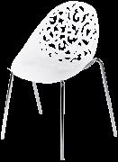 Cadeira Regna em Polipropileno na cor Branca