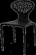 Cadeira SuperNatural For em Polipropileno Na Cor Preta