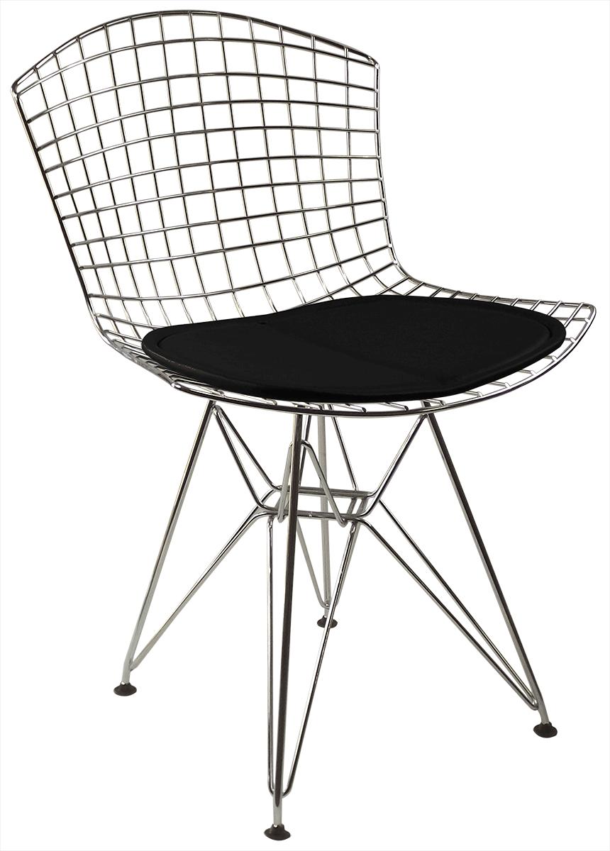 Cadeira Bertoia DKR Cromada com Assento