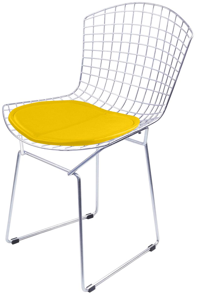 Cadeira Bertoia Tradicional Galvanizada Prata com Assento