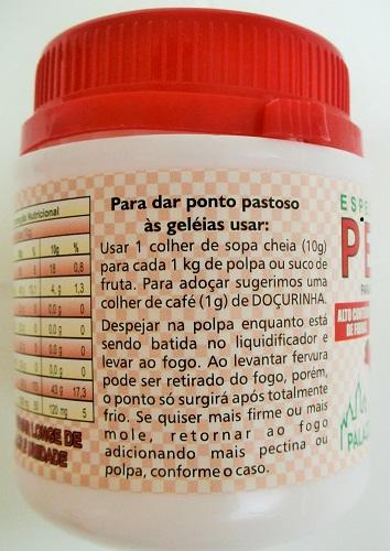 Espessante Natural Pectina - Família Doçurinha  - PALAZZO DO DIET LIGHT