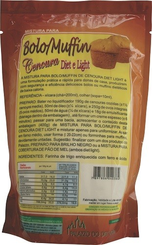 Mistura para Bolo/Muffin de Cenoura Diet Light  - PALAZZO DO DIET LIGHT