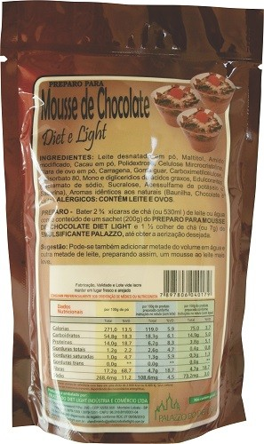 Preparo para Mousse de Chocolate Diet Light -  ( Família Doçurinha)  - PALAZZO DO DIET LIGHT