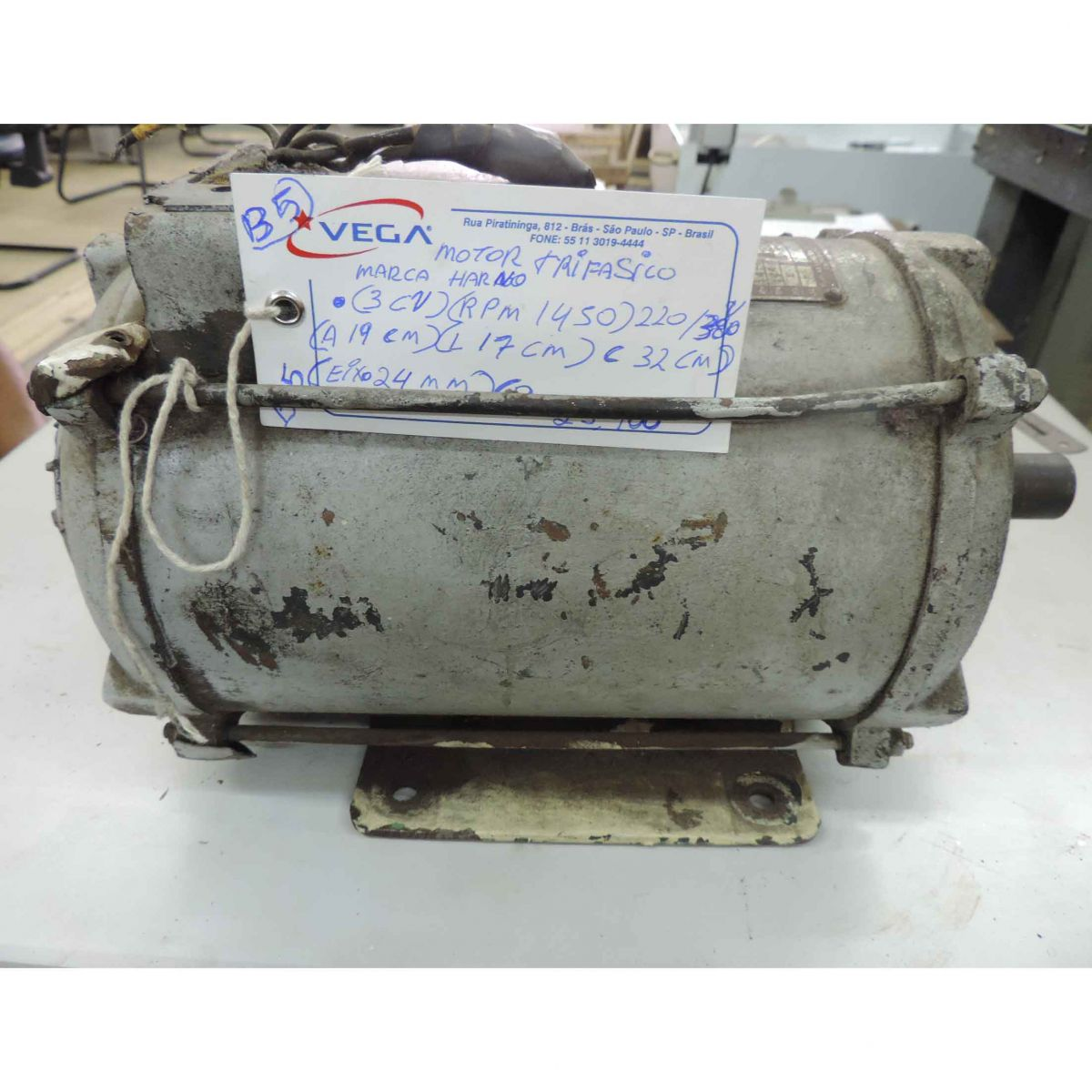 Motor Trifásico Marca Arno B5 3cv 1450rpm