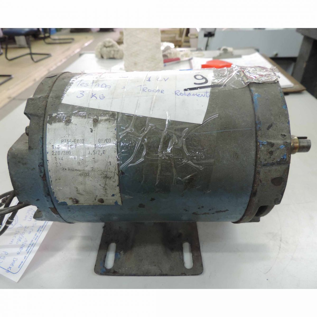 Motor Trifásico Marca Darka C1 - 1 Cv 3455 Rpm