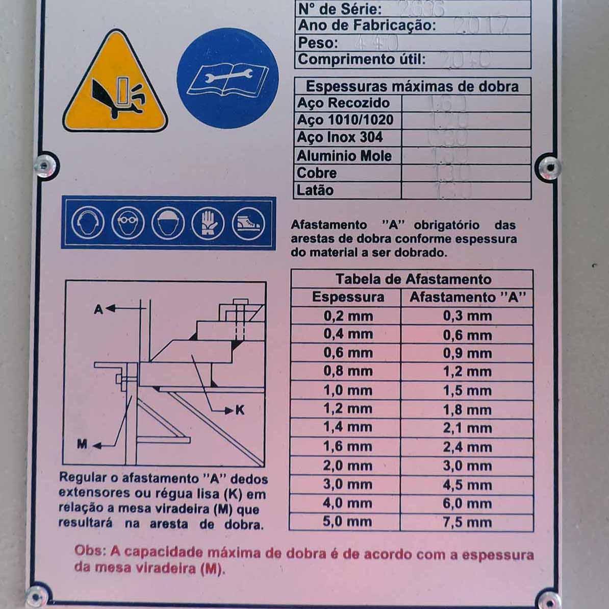 VML2 - Viradeira Manual Excêntrica com Dedo Extensor