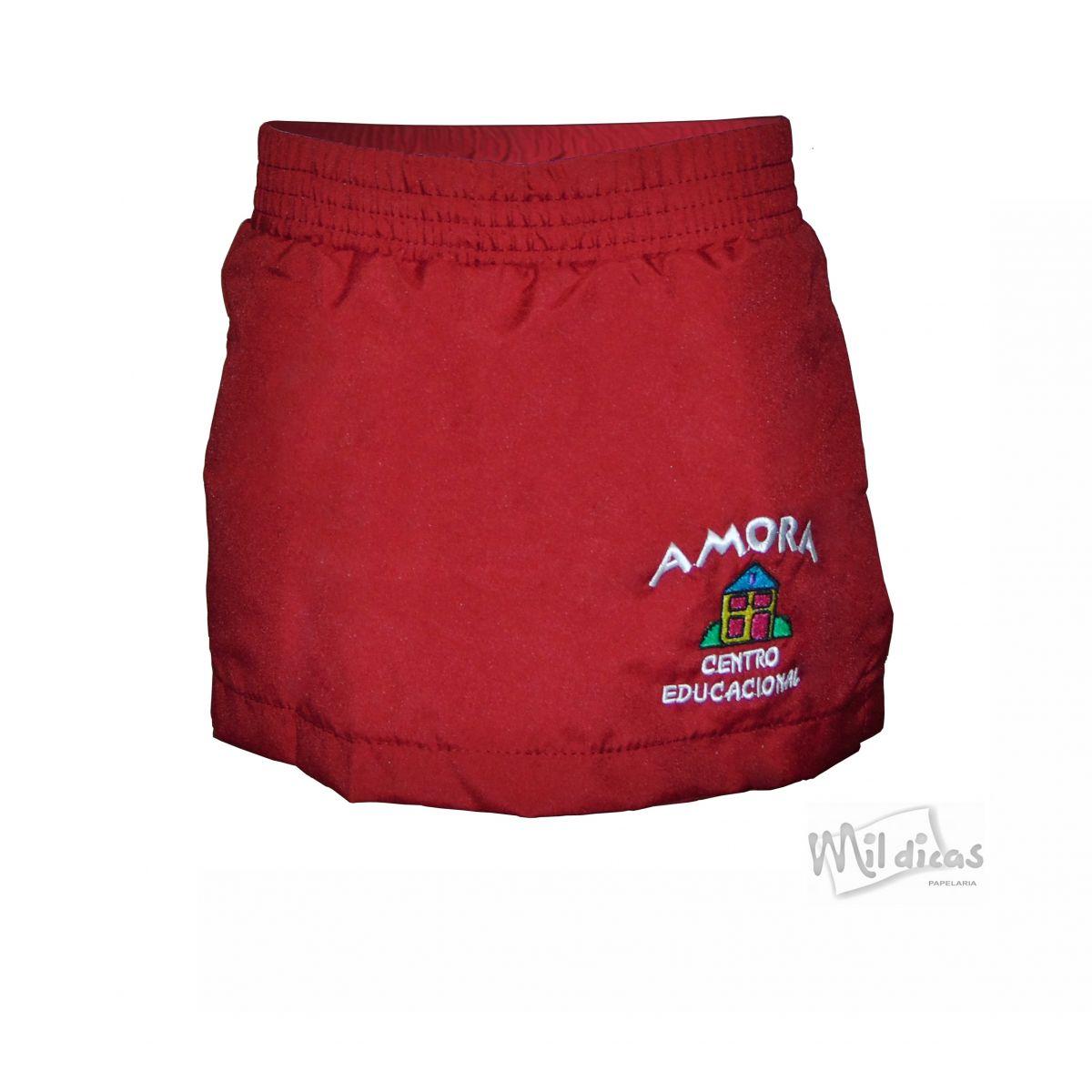 SHORT SAIA TACTEL FEMININO CRECHE AMORA