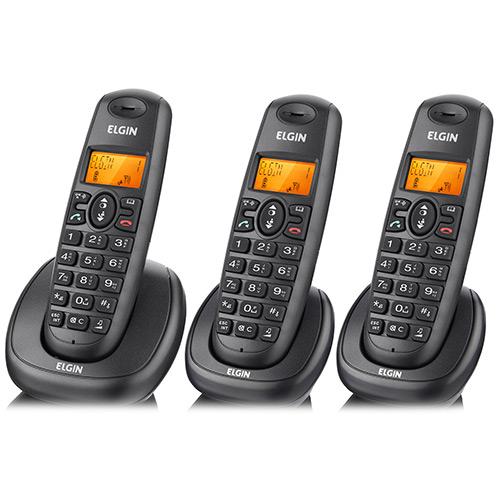 TELEFONE SEM FIO COM 2 RAMAIS TSF 7003