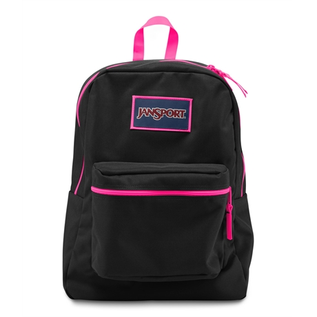 MOCHILA JANSPORT OVEREXPOSED (BLK/FLUEORPINK)