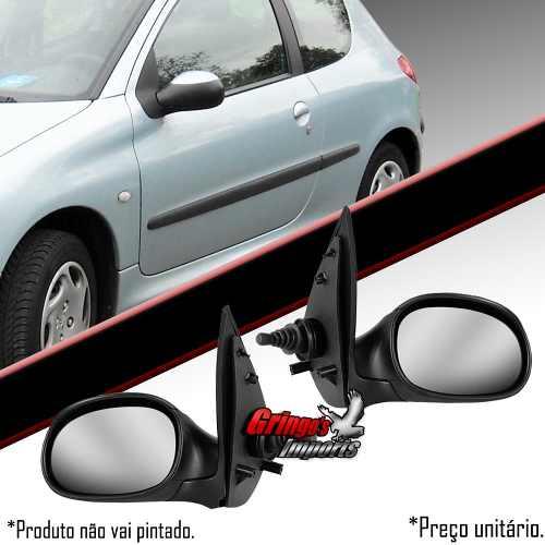 Retrovisor Peugeot 206 Com Controle Manual