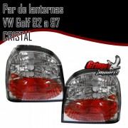 Par Lanterna Traseira VW Golf 92 a 97 Tuning Cromado