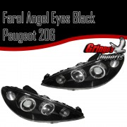 Farol Peugeot 206 Angel Black - O Par