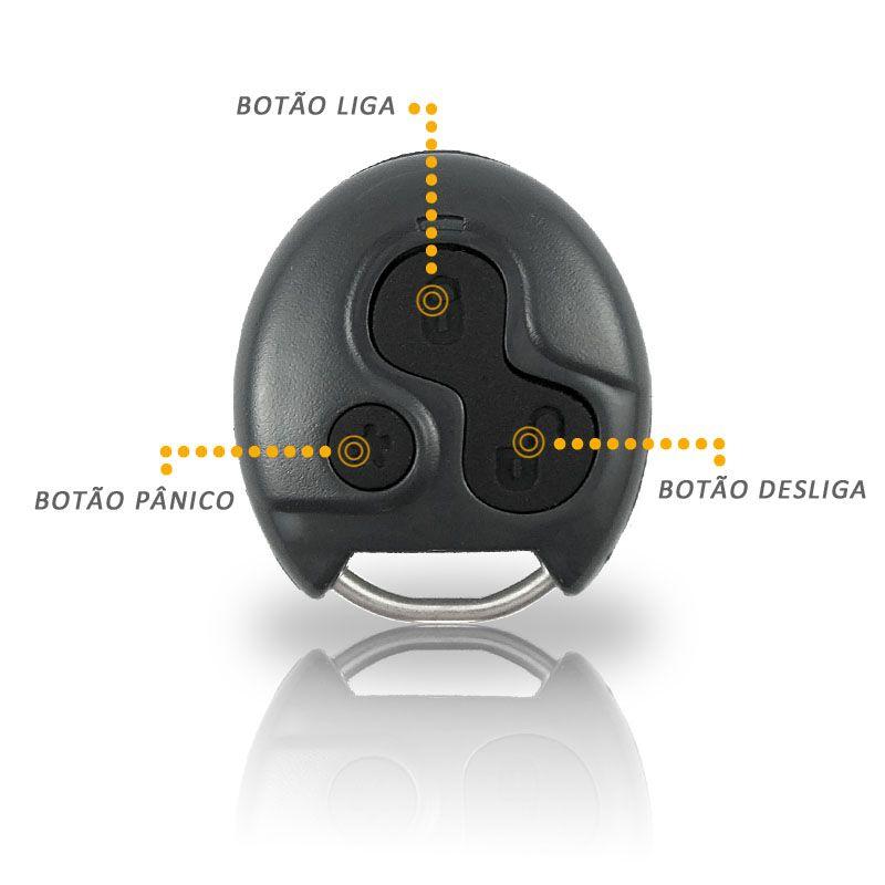 Alarme Moto Titan Fan 2009 em Diante Controle Presença