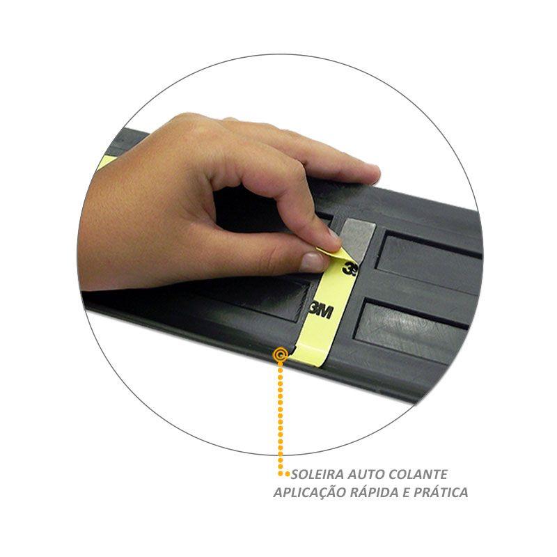 Protetor Injetado de Soleira Porta Picape 4 Portas Cabine dupla