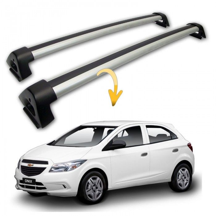 Rack Travessa de Teto em Alumínio Prata para Chevrolet Onix