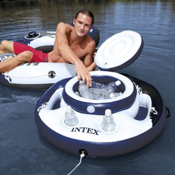 Bar Cooler Flutuante 15 Litros Intex 30 Latas 05 Porta Copos