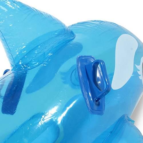 Bote Boia Inflável Baleia Transparente Com Alça Intex 58523